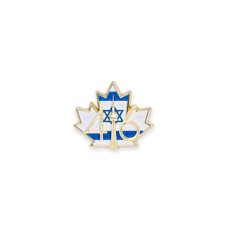 416 Israel Flag Lapel Pin