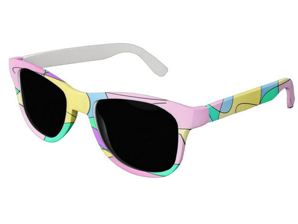 Wayfarer Sunglassses with Inspirational Life Quotes, Funny Quotes & Colorful Prints - COLORADDICTED.COM