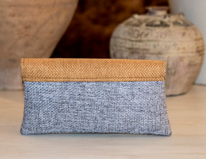Gray Clutch Purse Medium