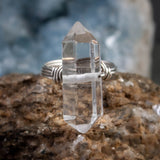 Quartz Crystal Point Ring