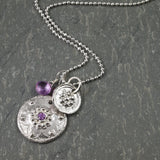 Talisman Necklace with Purple Sapphire