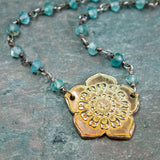 Ume Plum Blossom Necklace In Blue