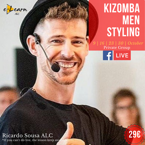 Kizomba Men Styling | Live On 9th, 16th, 23th and 30th October 2020