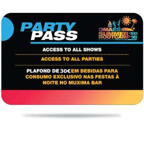 DMAES SUMMER BOOTCAMP 2018 - PARTY PASS - Available Soon - Disponível em Breve!