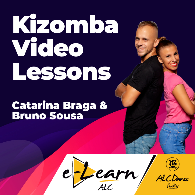 4 Video-aulas de técnicas de Kizomba, gravadas com Catarina Braga e Bruno Sousa, da ALC Dance Studios (Afrolatin Connection)