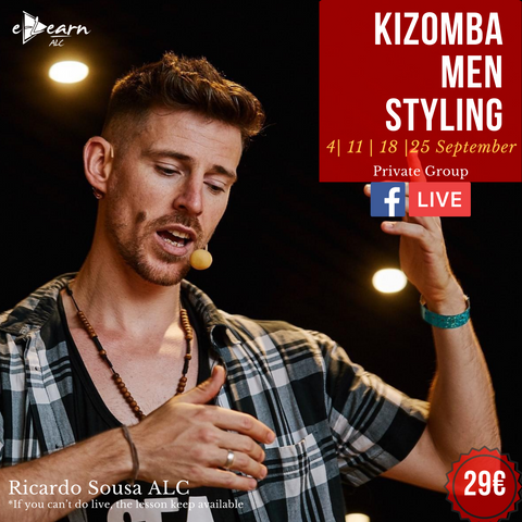 Kizomba Men Styling | Live On 4th, 11th, 18th and 25th September 2020