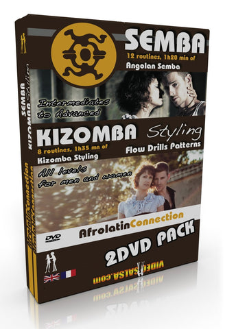 DVD - How to Dance SEMBA + KIZOMBA STYLING (2 DVD PACK)
