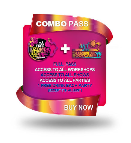COMBO TÁ FIXE KIZOMBA FESTIVAL + DMAES SUMMER BOOTCAMP 2017 - FULL PASS - ONLY AVAILABLE AT THE DOOR