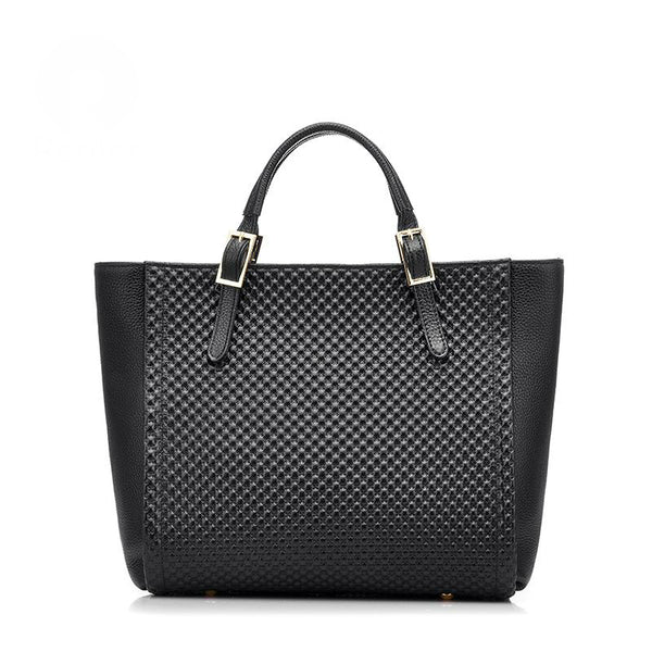 Leather Cross Tote Bag - AARB Store