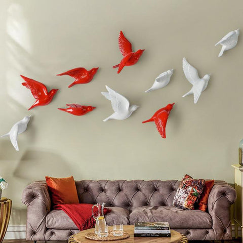 Birds Wall Sculptures