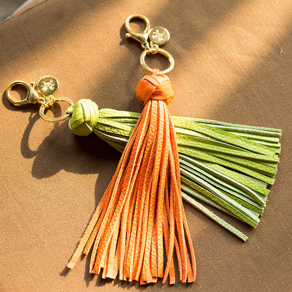 Leather Tassel Key Chain - AARB Store