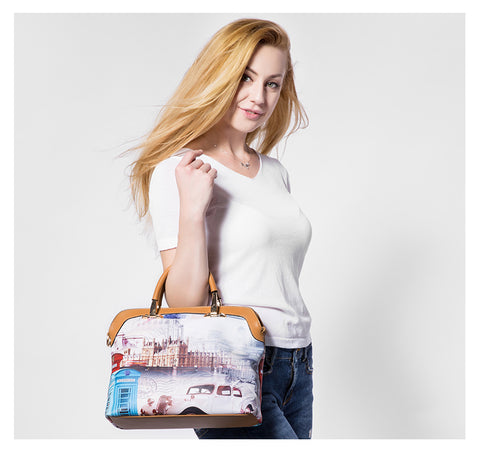 Composite Printed Handbag (3 PCS)