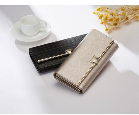 Casual Striped Wallet