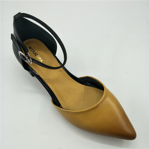 Pointed Leather Shoes