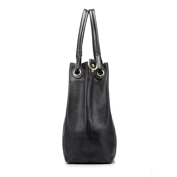 Casual Leather Bucket Bag - AARB Store