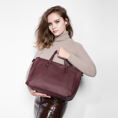 Fashion Solid Handbag - AARB Store