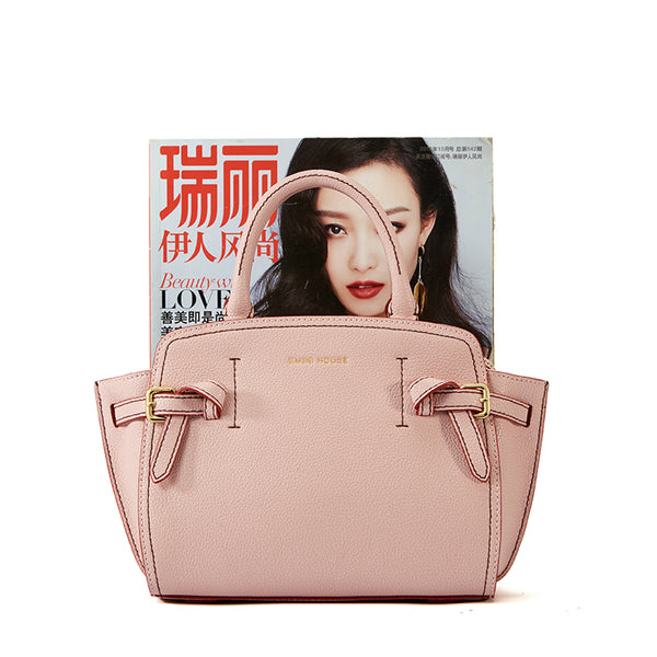 Litchi Grain Wings Handbag