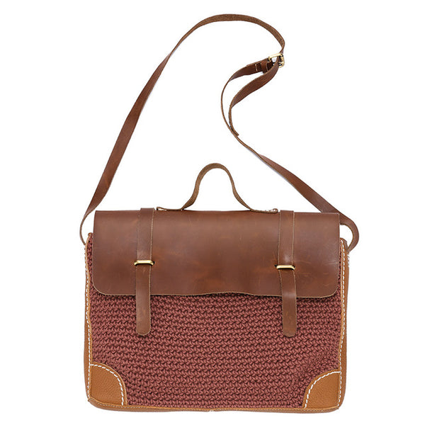 Satchel Leather Messenger Bag - AARB Store