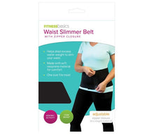 Load image into Gallery viewer, Fitbasics Womens Slimmer Belt with Zipper