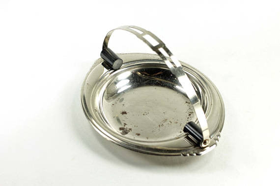 Metal Art Deco Ashtray