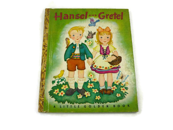 "Hansel and Gretel Vintage Little Golden Book Copyright 1943 9th or "" I "" Edition"