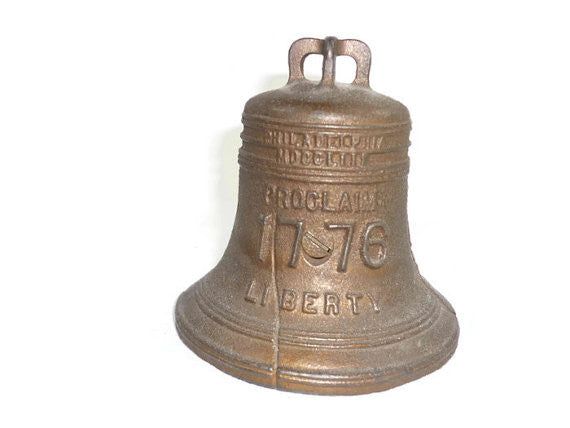 Vintage Cast Iron Liberty Bell Bank 1976 Bicentennial