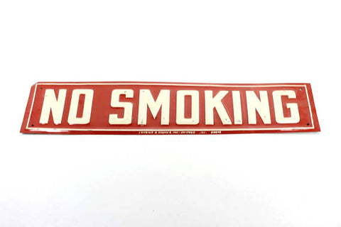 Vintage Embossed Tin No Smoking Sign