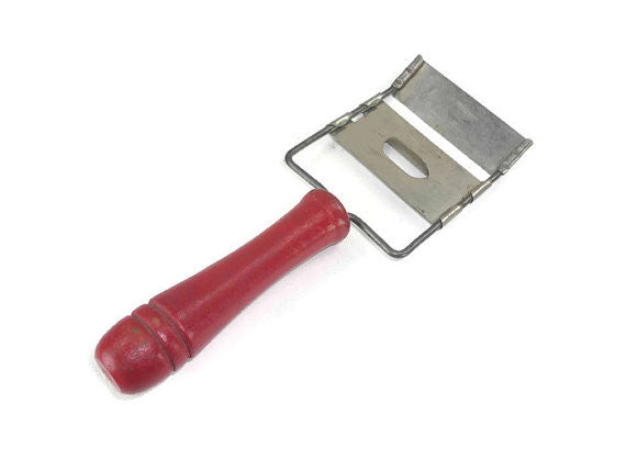 Vintage Cheese Slicer with Red Handle