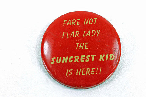 Vintage Suncrest Kid Button