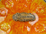 Vintage Sea World Souvenir Ashtray Orange and Yellow Angel Fish
