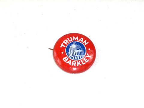 Vintage Truman Barkley Pinback Button