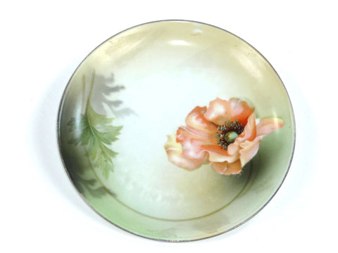 Antique RS or  R S Germany Porcelain Plate w/ Poppies