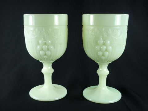Antique Northwood Custard Glass Goblets