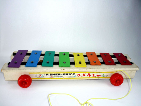 Vintage Fisher Price Toy Pull a Tune Xylophone