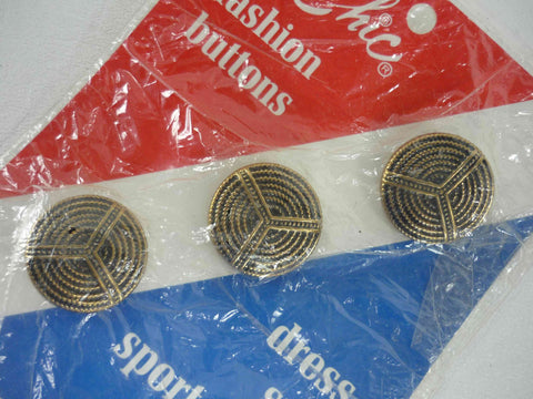 vintage le chic metal buttons