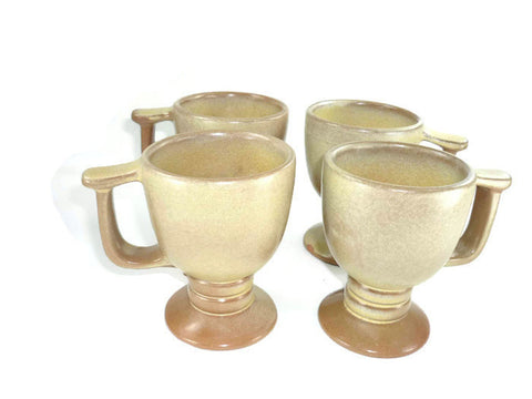 Frankoma pottery desert gold coffee mugs or cups
