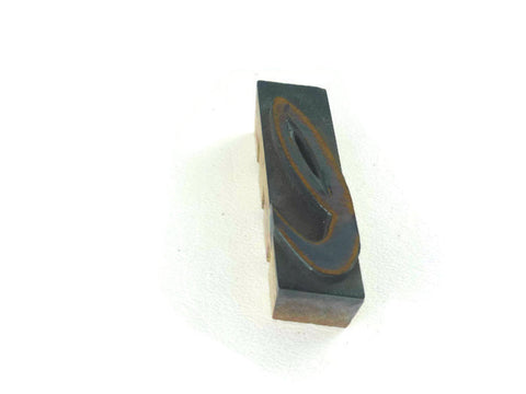 Vintage Wooden Printers Block Lower Case L