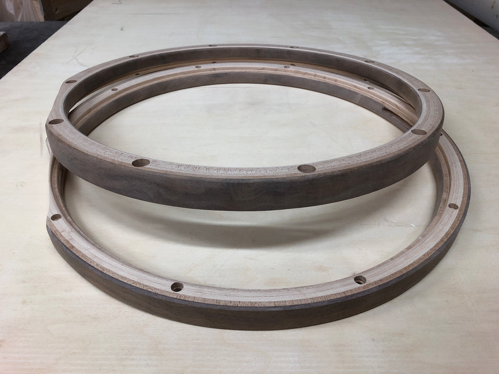 "14"" 10 hole ThickPly Snare Pair (Walnut outer plies)"
