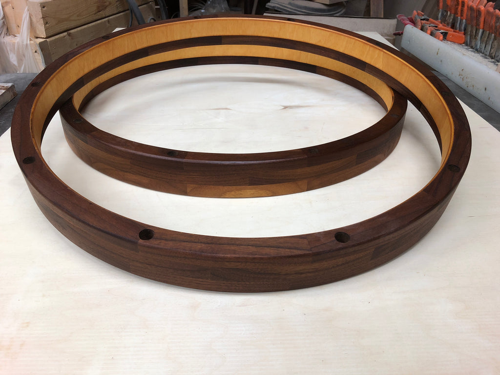 "20"" 10 hole segmented bass drum hoops"
