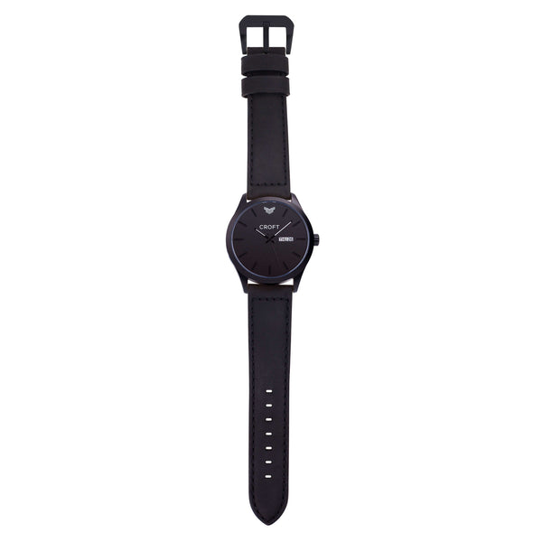 Richmond Matt Black - Jet Black Dial - CROFT Watches
