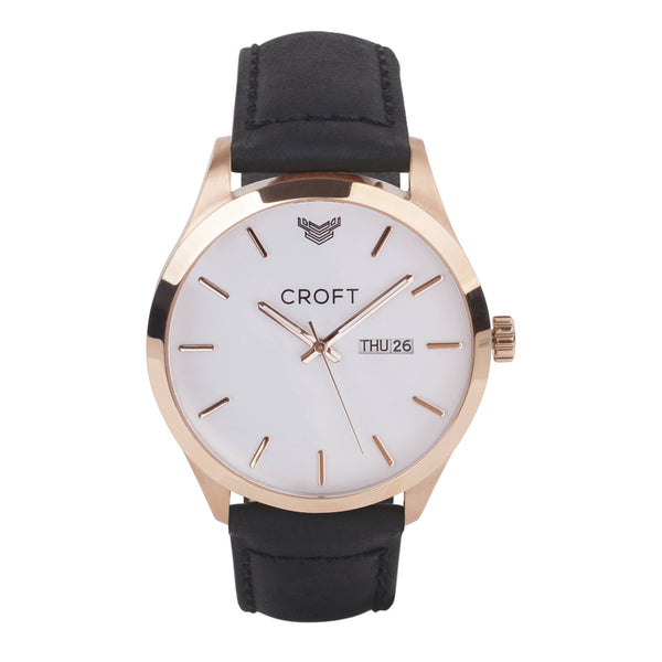 Richmond Rose Gold - Brilliant White Dial - CROFT Watches