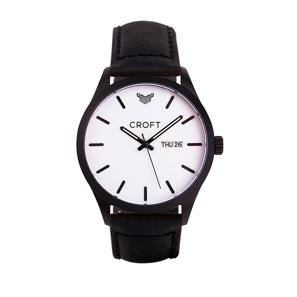 Matt Black - Brilliant White Dial - CROFT Watches