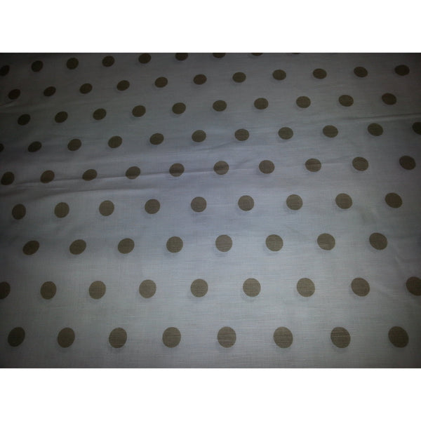 Polka dot printed cotton/linen fabric sold by 1/2mtr
