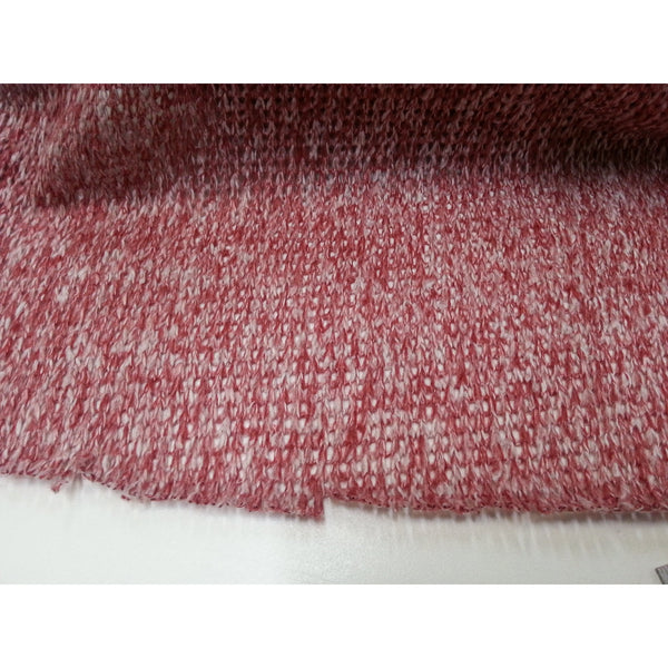 Wool blend knit fabric - red/white
