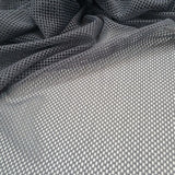 stretch mesh fabric - grey