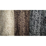 Jacquard design stretch bengaline fabric - black/latte/chocolate