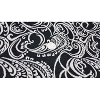 Jacquard design fabric - black/ivory