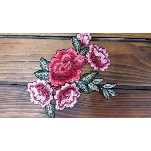 floral embroidered applique