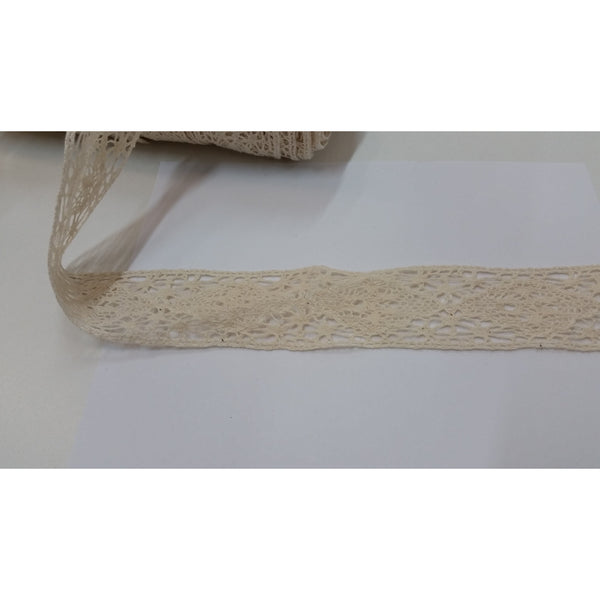 Trim - 100% cotton 2.5cm wide