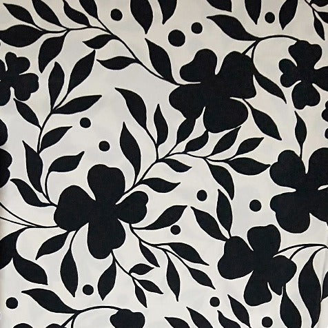 four leaf clover woven fabric - 2.50mtrs